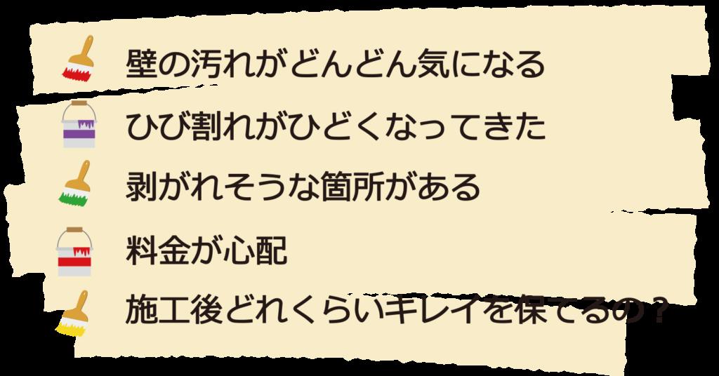 白い壁の汚れやひび割れ、剥がれが心配なしっくい壁の塗り替えは、大阪府の東方美研へお任せください